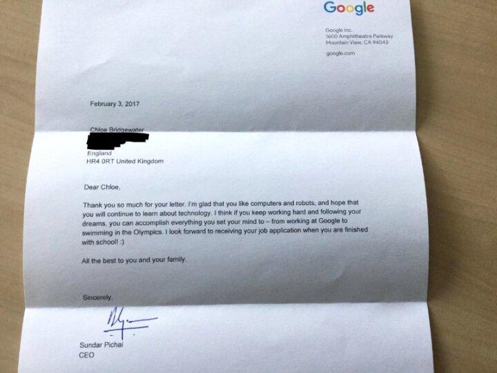 googleslettertochloe